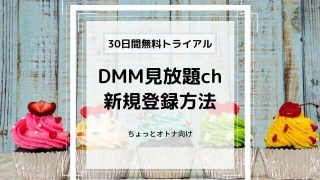 DMM見放題ch30日間無料トライアル 申込方法